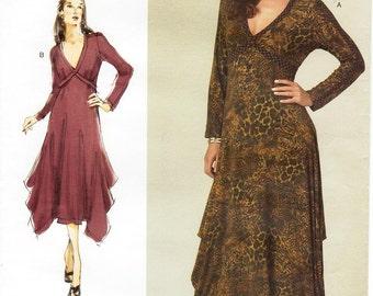 All Sizes/Bust 32 to 55 - Vogue Dress Pattern V1210 - Today's Fit by SANDRA BETZINA - Misses' V-Neckband Pullover Dress with Angled Hemline