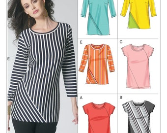 Pick Your Size - Vogue Top Pattern V8792 - Misses' Seam Detail Tops in Six Variations - Vogue Easy Options Pattern