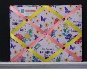 11 x 14 What happens at Grandma's Memory Board