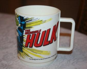 Vintage Child Children Plastic Mug The Incredible Hulk 1977 Marvel Comics By Deka Elizabeth , New Jersey