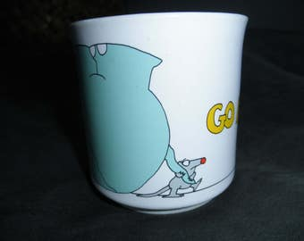 Vintage BOYNTON Elephant and Mouse Mug - Go For It!