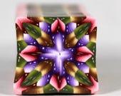 Raw Polymer Clay Square Jewel Kaleidoscope Cane