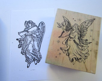 2 ANGEL rubber stamps - PSX 2155 and one other - heavenly angel stamps