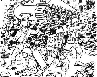 World War 2 Heroes Ink Illustration