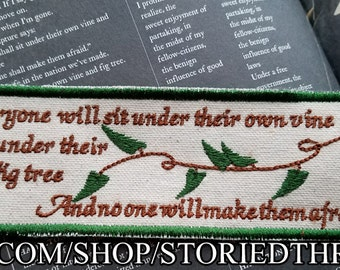 Vine and Fig Tree Bookmark or Patch