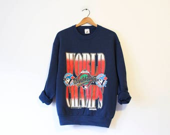 Vintage Toronto Blue Jays Baseball 1992 World Series Champions Sweatshirt