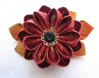 Caldera Rose Kanzashi Flower Hair Clip