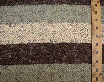 Green Brown Stripe Fabric