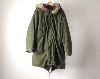 AVIATOR large hooded PARKA fur hood jacket