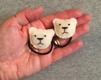 Teddy Bear Ponytail Holders