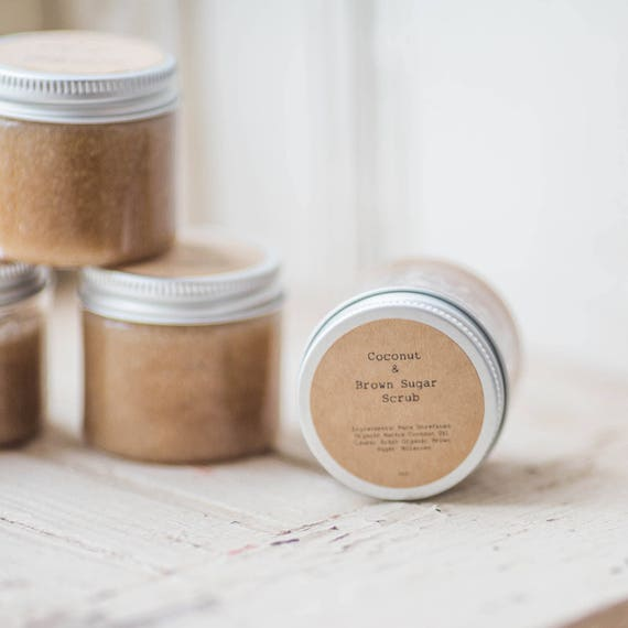 Coconut and Brown Sugar Scrub 2oz -  Set of 48 Favors-  Great for weddings, baby showers, bridal showers, client gifts