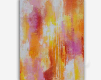 Colorful Wall Art Painting, Vibrant Abstract painting on canvas by Erin Ashley 30x40 canvas painting