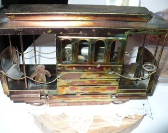Gift For Him Music Box, Copper Music Box, Trolley Car, I Left My Heart In San Francisco
