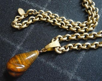 MIRIAM HASKELL NECKLACE vintage pendant with chain