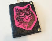 SALE Cat party vegan leather travel wallet