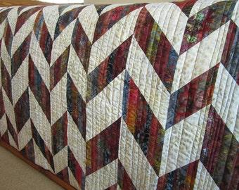Homemade Quilt, Batik Quilt, Lap Quilt, Throw Quilt, Sofa Quilt, Patchwork Quilt, Pieced Quilt, home decor