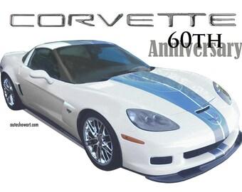 T-SHIRT Collectors Edition Corvette 60th Anniversary