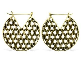 Honey Brass Earrings - Tribalstyle