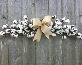 "Cotton blossom swag,  30"" long"