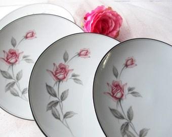 Vintage Noritake Rosemarie Salad Plates Set of Four