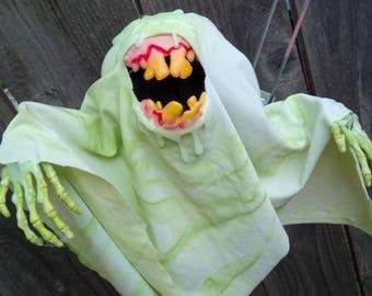 Glow-in-the-Dark Toxic Slobber Ghost II - Original Hanging Halloween Decoration