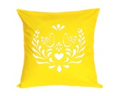 Custom Listing for beckster1006 Throw Pillow - Kurbits Love Birds in Yellow - 22 x 22 inches