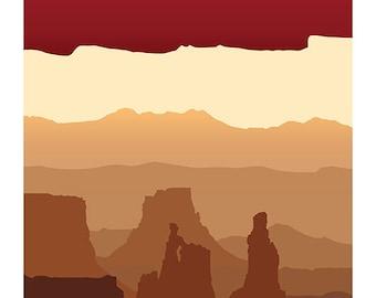 Canyonlands, Utah Art Deco Print