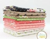"Olives Flower Market - Half Yard Bundle - 10 - 18""x44"" Cuts - by Lella Boutique for Moda Quilt Fabric"