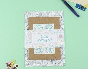 letter writing set illustrations letter set correspondence kit writing paper eco friendly letter set with pen