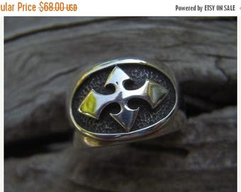 ON SALE Sterling silver medieval ring