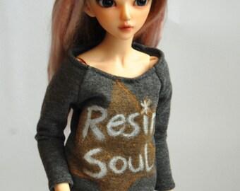 Resin soul handpainted sweatshirt for MSD Minifee doll 1/4 scale