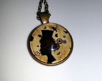 """10"""" Steampunk Victorian Woman w/Gears"""