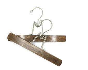 Vintage Wooden Clip Pant or Skirt Hanger, Set of Two, Art Display Hanger