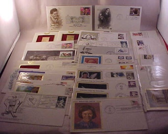 26 First Day Issue US Postage Stamps 1980s and 1990s