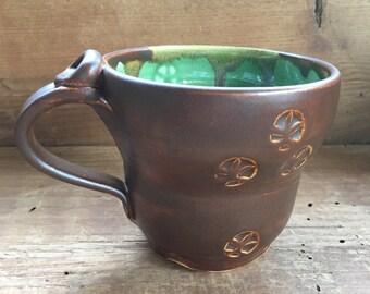 Coffee mug, tea cup, handmade pottery mug