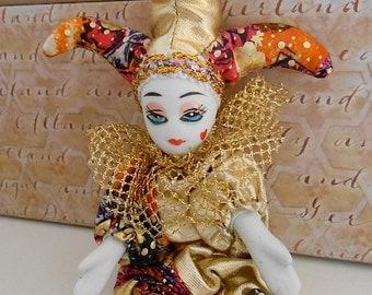 Vintage Venetian Court Jester Doll
