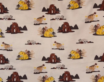 Flannel pants pajama dorm lounge made to order your choice size XS - 2X woodland cartoon animals bears raccoons fox