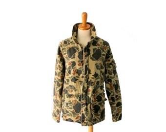sale // Vintage 80s Camouflage Army Jacket // Men Medium Regular // Punk Grunge Halloween