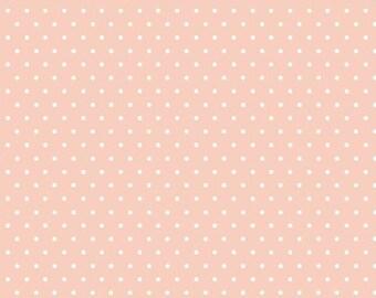 Organic KNIT Fabric - Cloud9 Tout Petit - Polka Dots Pink