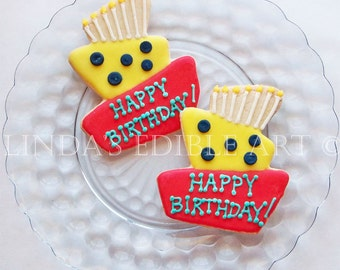 Topsy Turvy Birthday Cookies 1 Dozen (12)