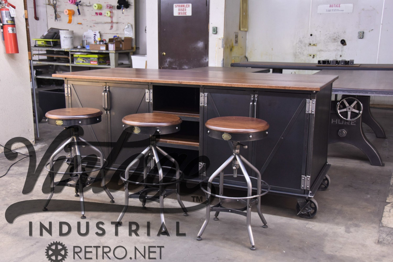 vintage industrial kitchen island antique cart utility
