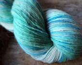 Gone Fishing - NZ corriedale wool  - single thread shawl yarn 101gr 494m