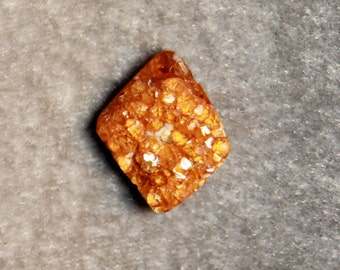 Spessatite Garnet Druzy, Druse, cabochon, golden orange tone like citrine or hessonite, or amber for jewelry making.