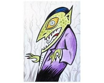 Dracula - Fine Art Print (FREE DOMESTIC SHIPPING)