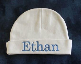 Personalized Newborn /Infant Beanie  Hat