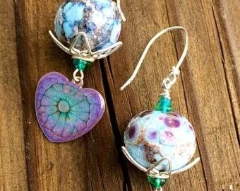Mottled Lavender Earrings