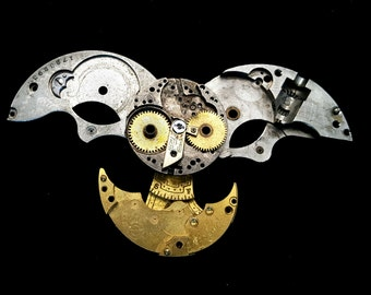 Steampunk Clockwork Owl (Animal Brooch or Necklace)