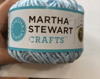 Cotton Hemp Yarn, Lion Brand Martha Stewart Crafts in Blue Icing, Light Blue Cotton Hemp Blend, great for Dishcloths, Wash Cloths and more