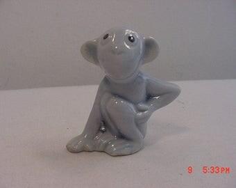 Vintage Ceramic Blue Monkey Figurine  17 - 458