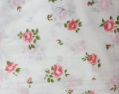 Store Closing SALE Vintage Pink Roses Fabric-BTY